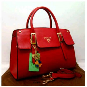 1390'Red ~ 35x12x25 New super prada milano office classic