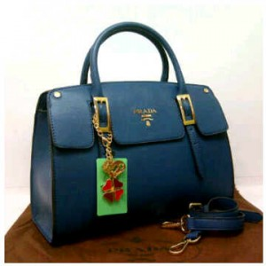 1390'Royal Blue ~ 35x12x25 New super prada milano office classic