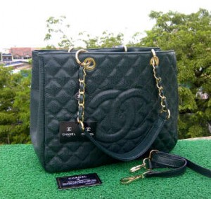 CH504(Green) ~ 33x13x25 Chanel Grand Shopping Tote caviar kwalitas super
