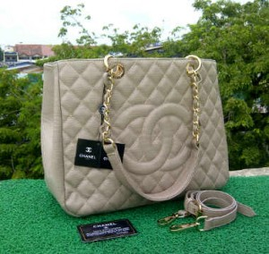 CH504(L'Grey) ~ 33x13x25 Chanel Grand Shopping Tote caviar kwalitas super