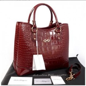 Hot promo Salvatore Ferragamo Maribel croco embossed semprem 1140S-1(Claret) ~ 34x15x28