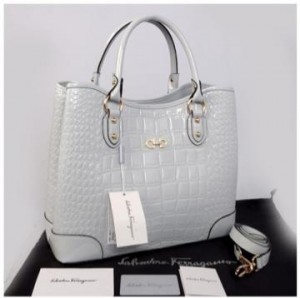 New Salvatore Ferragamo croco semprem 1140S-1(L'GRAY) ~ 34x15x27 idr@330rb