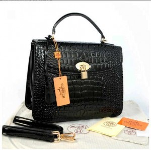 New Selempang Hermes croco glossi embossed semprem 1510-1(Black) ~ 30x12x23