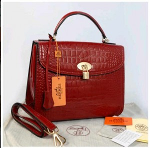 New Selempang Hermes croco glossi embossed semprem 1510-1(Red) ~ 30x12x23
