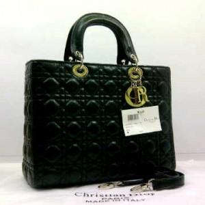 8802-2(Black) ~ 30x10x23 Christian Dior lambskin dove kwalitas super
