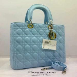8802-2(L'Blue) ~ 30x10x23 Christian Dior lambskin dove kwalitas super
