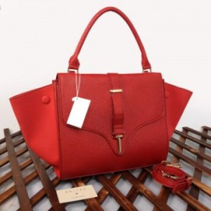 C20291(Bright Red) ~ 30x15x25 New Celine trapeze ladies stick taega epson komb suede kwalitas semprem