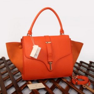 C20291(Orange) ~ 30x15x25 New Celine trapeze ladies stick taega epson komb suede kwalitas semprem
