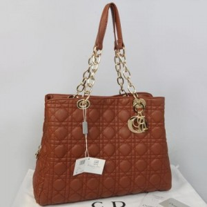 116EC(Coffee) ~ 35x10x27 Christian dior lambskin rajut kwalitas semprem with retsleting