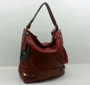 29019OQ(Dark Red) ~ 30x12x30 Fasion Hobo ori HK genuin leather lambskin