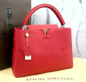 48869tt(Bright Red) ~ 35x13x25 Louis Vuitton capucin kwalitas premium klt jeruk genuine leather(1)