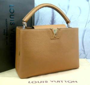 48869tt(camel) ~ 35x13x25 Louis Vuitton capucin kwalitas premium klt jeruk genuine leather(1)