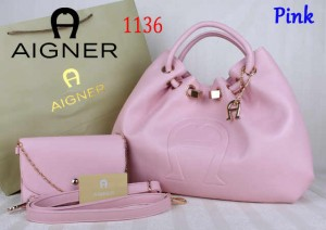 Bag Aigner 1136 uk~15x38x25. Pink