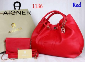 Bag Aigner 1136 uk~15x38x25. Red