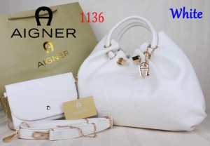 Bag Aigner 1136 uk~15x38x25. White