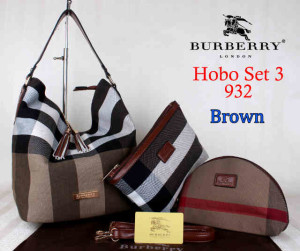 Bag Burberry Hobo 932 Super uk~26x20x30.Brown