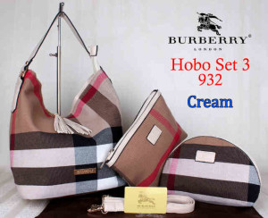 Bag Burberry Hobo 932 Super uk~26x20x30.Cream