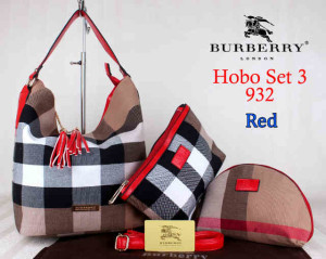 Bag Burberry Hobo 932 Super uk~26x20x30.Red