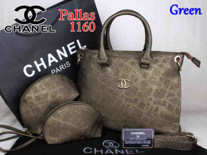 Bag Chanel Pallas 1160 Super uk~35x14x27. Green