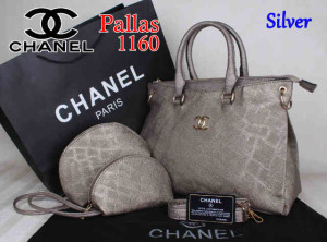 Bag Chanel Pallas 1160 Super uk~35x14x27. Silver