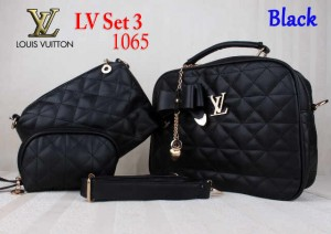 Bag LV Set 3 1065 Super uk~30x11x25. Black