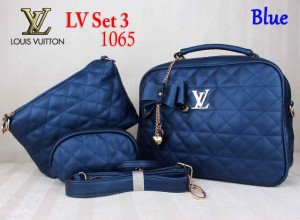 Bag LV Set 3 1065 Super uk~30x11x25. Blue