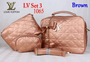 Bag LV Set 3 1065 Super uk~30x11x25. Brown