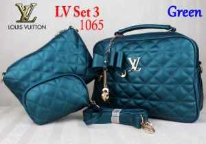 Bag LV Set 3 1065 Super uk~30x11x25. Green