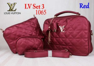 Bag LV Set 3 1065 Super uk~30x11x25. Red