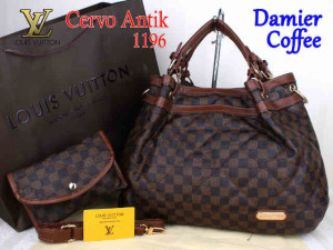 Bag Lv Cervo Antik 1196 Super uk~39x18x30. Damier Coffee