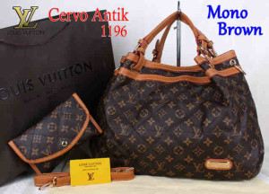 Bag Lv Cervo Antik 1196 Super uk~39x18x30. Mono Brown