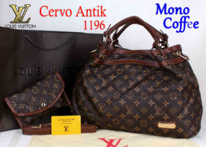 Bag Lv Cervo Antik 1196 Super uk~39x18x30. Mono Coffee