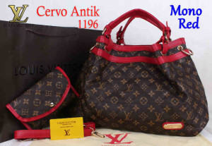 Bag Lv Cervo Antik 1196 Super uk~39x18x30. Mono Red