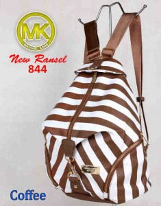Bag MK New Ransel 844 uk~28x15x34 Coffee