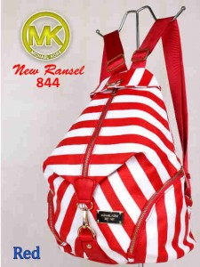 Bag MK New Ransel 844 uk~28x15x34 Red