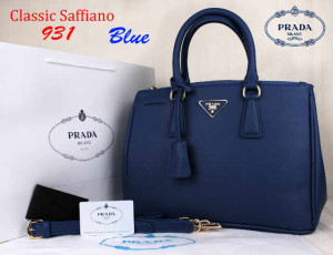 Bag Prada Classic Saffiano 931 Super uk~35x15x25.Blue