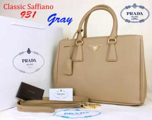 Bag Prada Classic Saffiano 931 Super uk~35x15x25.Gray
