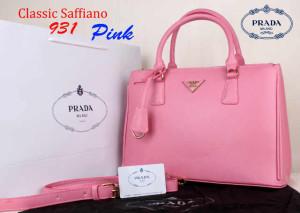 Bag Prada Classic Saffiano 931 Super uk~35x15x25.Pink
