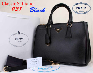 Bag Prada Classic Saffiano 931 Super uk~35x15x25Black