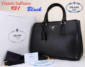 Bag Prada Classic Saffiano 931 Super uk~35x15x25Black