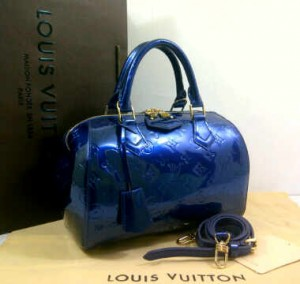 Idr 1,1jt@M90058OQ(Electric Blue) ~ 26x16x20 Louis vuitton speedy vernis kwalitas premium