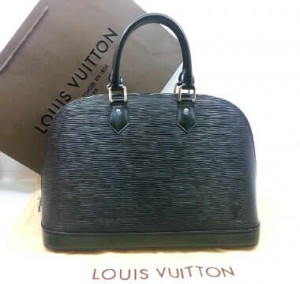 M5289Nnq(Black-silver hardware) ~ 32x12x22 Louis Vuitton alma ephi leather kwalitas premium