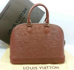 M5289Nnq(Chocolate-silver hardware) ~ 32x12x22 Louis Vuitton alma ephi leather kwalitas premium