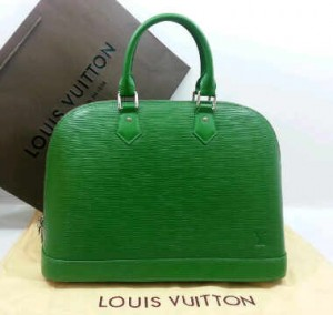 M5289Nnq(Green-silver hardware) ~ 38x18x27 Louis Vuitton alma ephi leather kwalitas premium