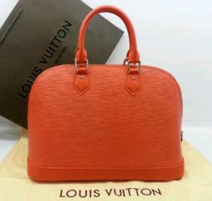 M5289Nnq(Orannge-silver hardware) ~ 32x12x22 Louis Vuitton alma ephi leather kwalitas premium