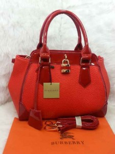 Uk 29x12x24 BURBERRY 01030 SEMI PREMIUM KULIT JERUK, MERAH