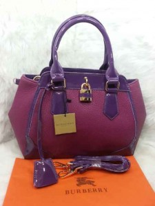Uk 29x12x24 BURBERRY 01030 SEMI PREMIUM KULIT JERUK, UNGU