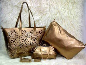 Uk 30x26x14 CHLOE BARA SUPER 3 in 1 GOLD
