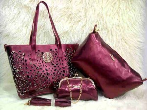 Uk 30x26x14 CHLOE BARA SUPER 3 in 1 MAROON