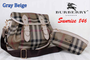 Bag Burberry Sunrise 846 uk~36x16x30. @290rb~Gray Beige